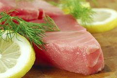 Raw Tuna Steak Royalty Free Stock Photo