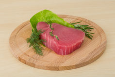 Raw tuna steak Royalty Free Stock Photos