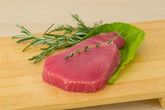 Raw tuna steak Stock Images