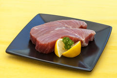 Raw Tuna Steak Stock Photography