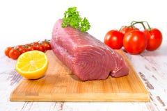 Raw tuna steak Stock Image