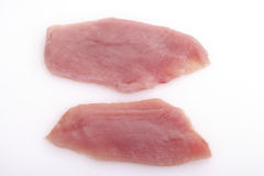 Raw Turkey cutlets Royalty Free Stock Images