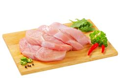 Raw turkey escalopes Royalty Free Stock Images