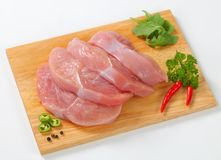 Raw turkey escalopes Royalty Free Stock Photo