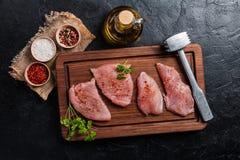 Raw turkey meat Stock Photography