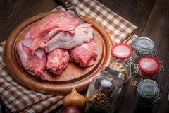 Raw turkey meat. Stock Photo