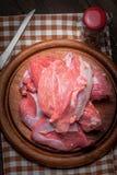Raw turkey meat. Stock Photos