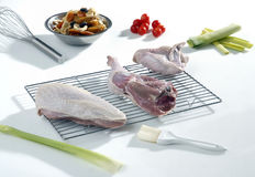 Raw turkey ready to cook Stock Photos