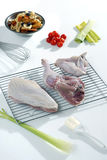 Raw turkey ready to cook Royalty Free Stock Image