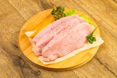 Raw turkey steak Stock Photography