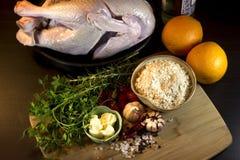 Raw turkey Royalty Free Stock Photography