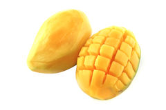 Raw two mango served Royalty Free Stock Images
