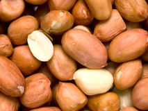 Raw uncooked peanuts Stock Photos