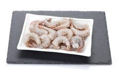 Raw uncooked shrimps Stock Photos