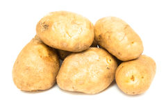 Raw unpeeled potatoes Royalty Free Stock Photo