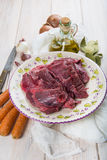 Raw veal cheeks Stock Photography
