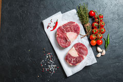 Raw veal shank slices meat Stock Photography