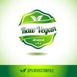 Raw vegan badge label seal Royalty Free Stock Images