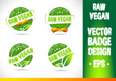 Raw vegan Badge Logo Logo Stock Photo