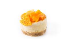 Raw vegan cake. On a white background stock image
