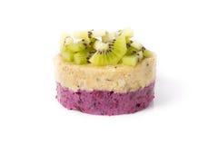 Raw vegan cake. On a white background royalty free stock photo