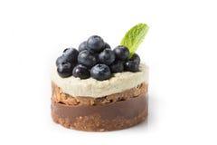Raw vegan cake. On a white background royalty free stock photography