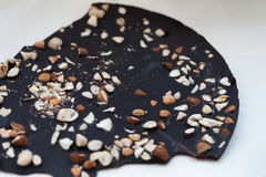 Raw vegan chocolate. With nuts Stock Images