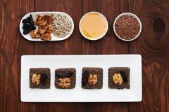 Raw vegan dessert and ingredients Stock Images