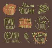 Raw vegan food. calligraphy Royalty Free Stock Photography