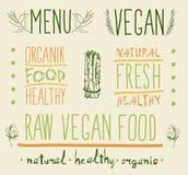 Raw vegan food. calligraphy Royalty Free Stock Photo