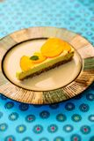 Raw vegan lemon tart royalty free stock photography