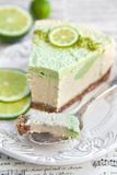 Raw vegan lime cheesecake Royalty Free Stock Photos
