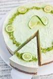 Raw vegan lime cheesecake Royalty Free Stock Photos
