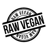 Raw Vegan rubber stamp Stock Photo