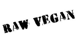 Raw Vegan rubber stamp Stock Photos