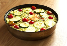 Raw vegetable casserole; royalty free stock image