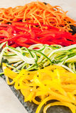 Raw vegetable noodles Stock Photo