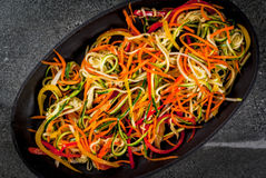 Raw vegetable noodles Royalty Free Stock Photos