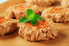 Raw vegetable patties Stock Images