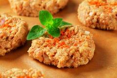 Raw vegetable patties Stock Image