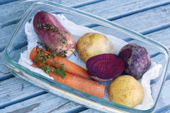 Raw vegetable with potatoes Stock Image