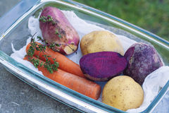 Raw vegetable with potatoes Royalty Free Stock Image