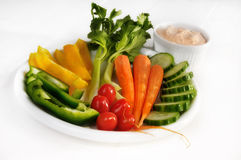 Raw vegetable salad Stock Photos