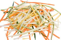Raw Vegetable Spaghetti royalty free stock photo