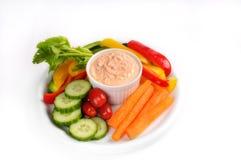 Raw vegetabled dish Royalty Free Stock Image
