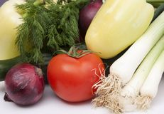 Raw vegetables Stock Photography