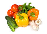 Raw vegetables Royalty Free Stock Photos