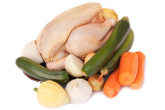 Raw vegetables and Chicken Royalty Free Stock Photography