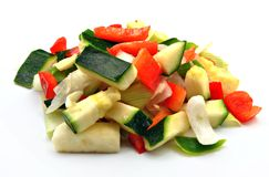 Raw vegetables cut Royalty Free Stock Photo