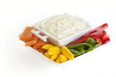 Raw Vegetables and Dip Royalty Free Stock Images